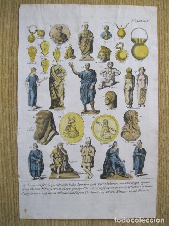 Arte: Senadores del Imperio romano, 1757.Montfaucon - Foto 4 - 164707970