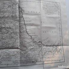 Arte: MAPA GEOGRÁFICO PARTE DE NUEVA ESPAÑA MÉXICO GRABADO POR TOMAS LÓPEZ 1783 SIGLO XVIII AMÉRICA. Lote 164758910