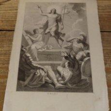 Arte: GRABADO (15X22 CMS) E. BOIX. FINALES SIGLO XVIII - PRINCIPIO DEL XIX.LA RESURRECCION. Lote 165287078