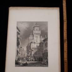 Arte: FERRARA. LONDON, DUNCAN & MALCOLM GLASSGOW BLACKIE & SON. PRINTED BY H. ADLARD, DRAWN BY S. PROUT.. Lote 165317786