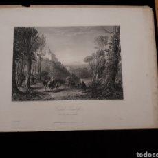 Arte: CASTEL GANDOLF AND THE LAKE O ALBANO. LONDON, DUNCAN & MALCOLM GLASSGOW BLACKIE & SON.. Lote 165325418