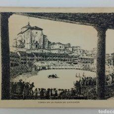 Arte: TOROS EN LA PLAZA DE CHINCHÓN GRABADO DE J GALLARDO 1955 FIRMADO Y DEDICADO. Lote 165367653