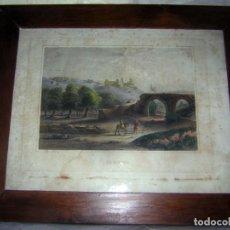 Arte: GRABADO ANTIGUO S XIX, COLOREADO A MANO. Lote 165464362