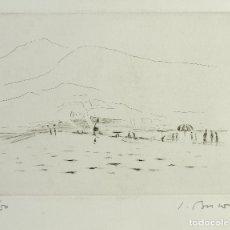Arte: SIMÓ BUSOM GRAU (1927) GRABADO 27/50 PLAYA FIRMADO. Lote 165533458