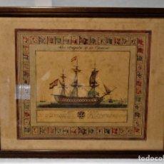 Arte: ANTIGUO CUADRO GRABADO EN PLANCHA A COLOR DE 1972 EN PAPEL ESPECIAL. Lote 165608662