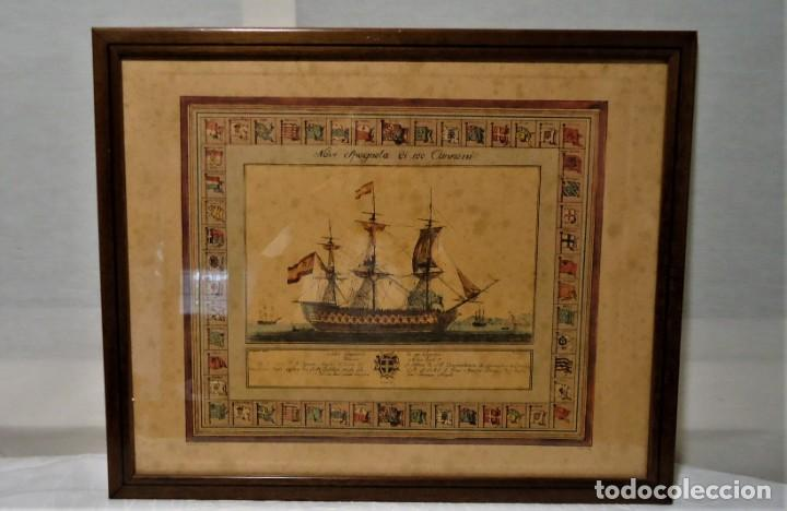 Arte: Antiguo cuadro Grabado en plancha a color de 1972 en papel especial - Foto 2 - 165608662