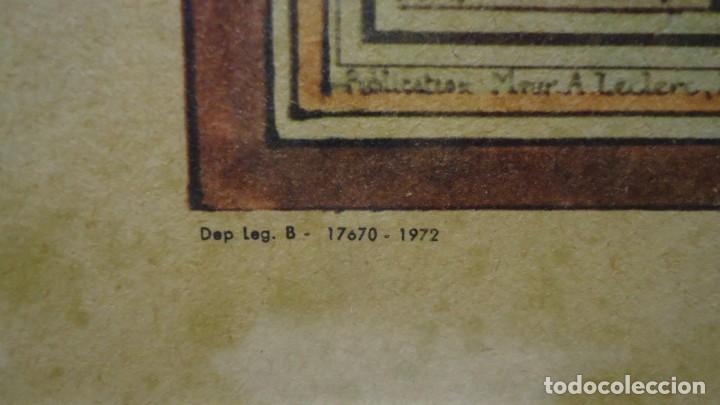 Arte: Antiguo cuadro Grabado en plancha a color de 1972 en papel especial - Foto 4 - 165608662