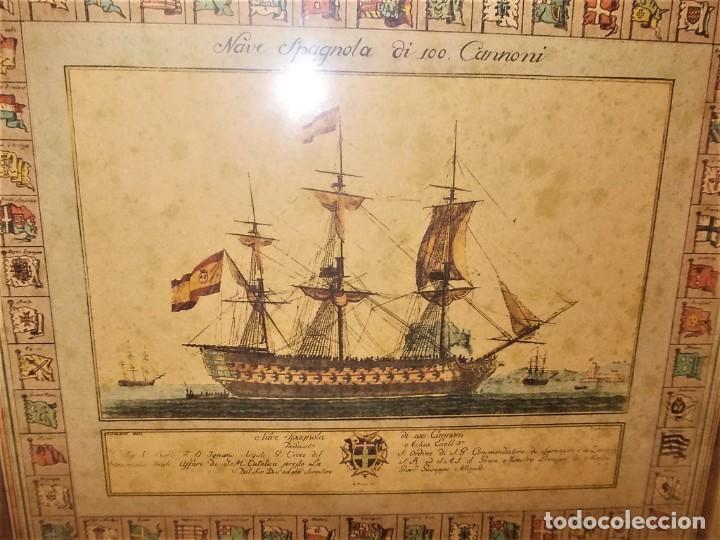 Arte: Antiguo cuadro Grabado en plancha a color de 1972 en papel especial - Foto 7 - 165608662