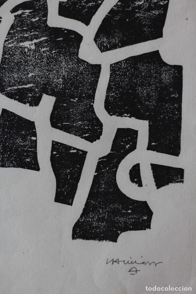 Arte: EDUARDO CHILLIDA.SAKONDU.GRABADO A LA MADERA .FIRMADO Y NUMERADO A MANO POR EL ARTISTA. - Foto 3 - 165629994