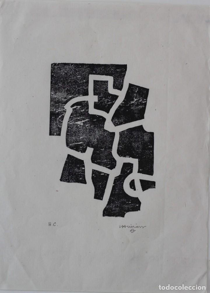 Arte: EDUARDO CHILLIDA.SAKONDU.GRABADO A LA MADERA .FIRMADO Y NUMERADO A MANO POR EL ARTISTA. - Foto 5 - 165629994