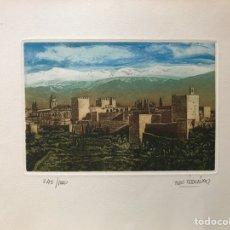 Arte: JUAN FERNÁNDEZ, OBRA GRÁFICA AGUATINTA AGUAFUERTE. Lote 165727428