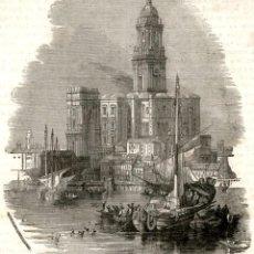 Arte: 1875 - ORIGINAL - PUERTO CATEDRAL MALAGA - EXTRAIDO DEUTSCHE ILLUSFRIRTE - GRABADO: 10 X 11 CM. Lote 165811754