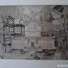 Arte: FIRMA DESCONOCIDO VIENA GUSTAV KLIMT GRABADO 20X29 PAPEL 39X50CMS FIRMADO LÁPIZ Y NUM 1/18 SOLAMENTE. Lote 165896358