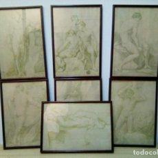 Arte: LOTE DE 7 GRABADOS ( REAL DEPARTAMENTO DE GRABADO Y MÁQUINAS PARA LA MONEDA). Lote 210756312