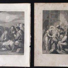 Arte: CONJUNTO DE GRABADOS F. S. XVIII - ANUNCIACIÓN -. Lote 166100274