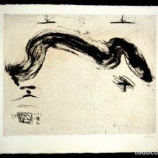 Arte: ANTONI TÁPIES, GRABADO FIRMADO A MANO , 76 X 56,5 CM. Lote 166136254