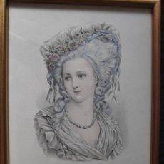 Arte: GRABADO. S.XIX. PEINADOS. ENMARCADO.. Lote 166299598