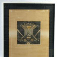 Arte: GRABADO PRUEBA DE ARTISTA VISTA INTERIOR FIRMADO A LÁPIZ AMÈLIA HIENA . Lote 166318158