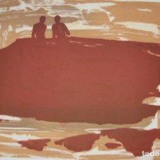 Arte: ALFONSO ALBACETE (ANTEQUERA 1950). GRABADO GRAN TAMAÑO DE 44X64(PLANCHA) EN 63X92(PAPEL) 63/75. . Lote 166533610