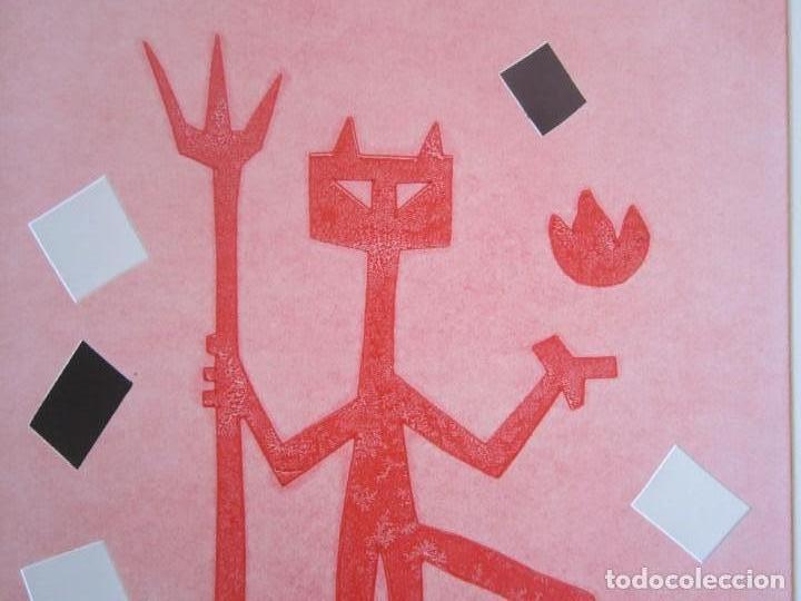 Arte: Devil in Me - Monotipo sobre papel de GAP (Guillermo Antón Pardo) - 25 x 35 cm - Foto 4 - 166657670