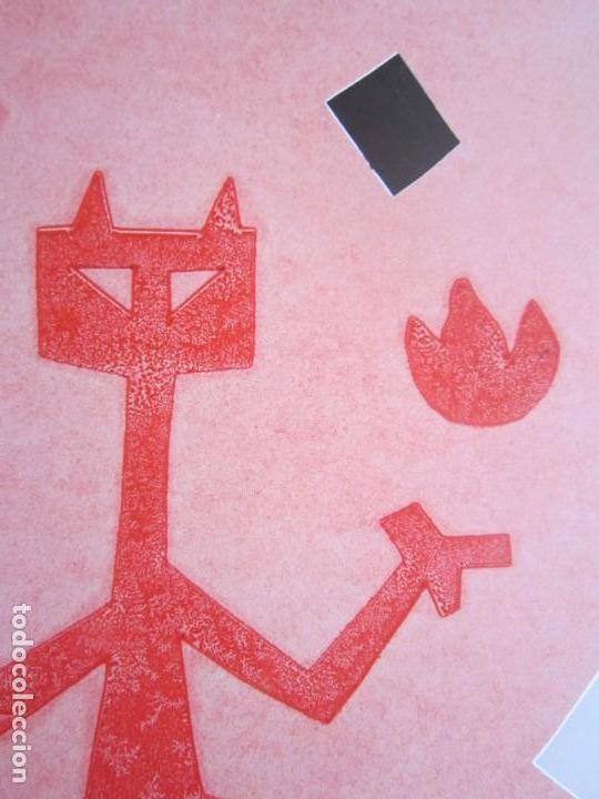 Arte: Devil in Me - Monotipo sobre papel de GAP (Guillermo Antón Pardo) - 25 x 35 cm - Foto 6 - 166657670