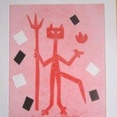 Arte: DEVIL IN ME - MONOTIPO SOBRE PAPEL DE GAP (GUILLERMO ANTÓN PARDO) - 25 X 35 CM. Lote 166657670