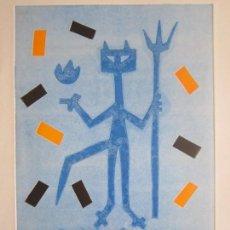 Arte: DEVIL IN ME - MONOTIPO SOBRE PAPEL DE GAP (GUILLERMO ANTÓN PARDO) - 25 X 35 CM. Lote 166658090