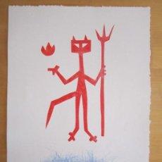 Arte: DEVIL IN ME - MONOTIPO SOBRE PAPEL DE GAP (GUILLERMO ANTÓN PARDO) - 25 X 35 CM. Lote 166658318