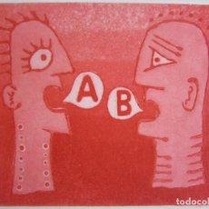 Arte: MALENTENDIDO - GRABADO AL AGUATINTA DE GAP (GUILLERMO ANTÓN PARDO) - 25 X 35 CM. Lote 166658714