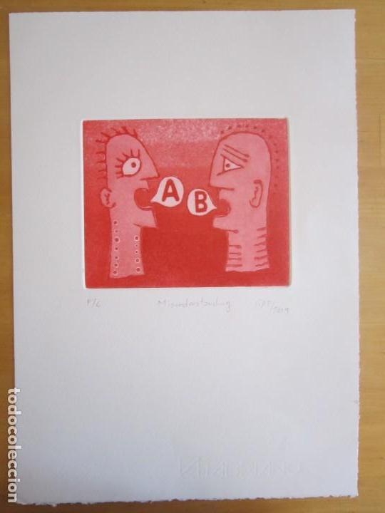 Arte: Malentendido - Grabado al aguatinta de GAP (Guillermo Antón Pardo) - 25 x 35 cm - Foto 2 - 166658714