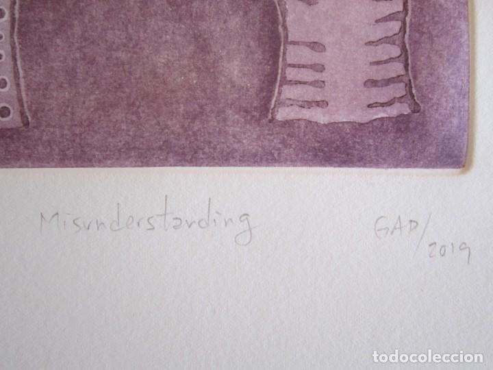 Arte: Malentendido - Grabado al aguatinta de GAP (Guillermo Antón Pardo) - 25 x 35 cm - Foto 3 - 166659530