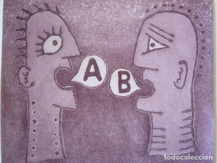 Arte: Malentendido - Grabado al aguatinta de GAP (Guillermo Antón Pardo) - 25 x 35 cm - Foto 5 - 166659530
