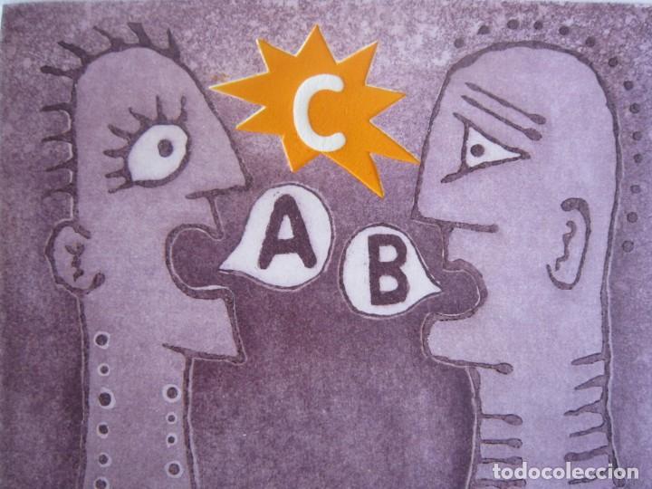 Arte: Malentendido - Grabado al aguatinta y monotipo de GAP (Guillermo Antón Pardo) - 25 x 35 cm - Foto 3 - 166659974