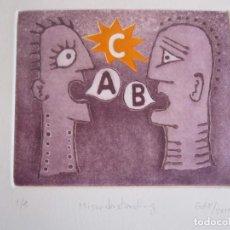 Arte: MALENTENDIDO - GRABADO AL AGUATINTA Y MONOTIPO DE GAP (GUILLERMO ANTÓN PARDO) - 25 X 35 CM. Lote 166659974