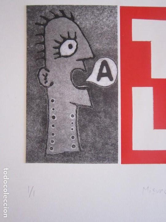 Arte: Malentendido TALK - Collage con aguatinta y monotipo de GAP (Guillermo Antón Pardo) - 35 x 25 cm - Foto 3 - 166661266
