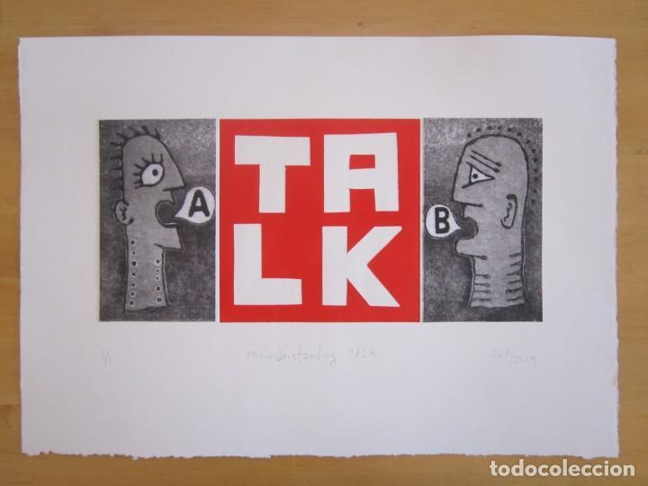 Arte: Malentendido TALK - Collage con aguatinta y monotipo de GAP (Guillermo Antón Pardo) - 35 x 25 cm - Foto 4 - 166661266