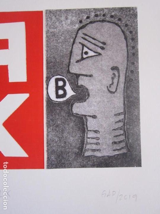 Arte: Malentendido TALK - Collage con aguatinta y monotipo de GAP (Guillermo Antón Pardo) - 35 x 25 cm - Foto 2 - 166661266