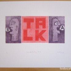 Arte: MALENTENDIDO TALK - COLLAGE CON AGUATINTA Y MONOTIPO DE GAP (GUILLERMO ANTÓN PARDO) - 35 X 25 CM. Lote 166661578