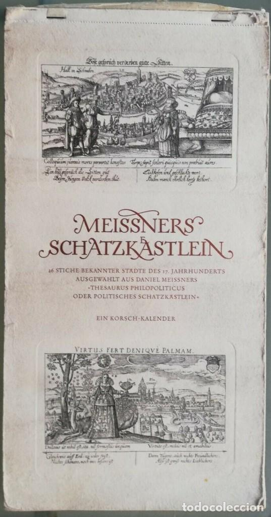 CALENDARIO ALEMÁN MEISSNERS SCHATZKÄSTLEIN. 14 GRABADOS DANIEL MEISNER (1585-1625) ADOLF KORSCH 1969 (Arte - Grabados - Antiguos hasta el siglo XVIII)