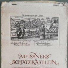 Arte: CALENDARIO ALEMÁN MEISSNERS SCHATZKÄSTLEIN. 14 GRABADOS DANIEL MEISNER (1585-1625) ADOLF KORSCH 1969. Lote 164797730