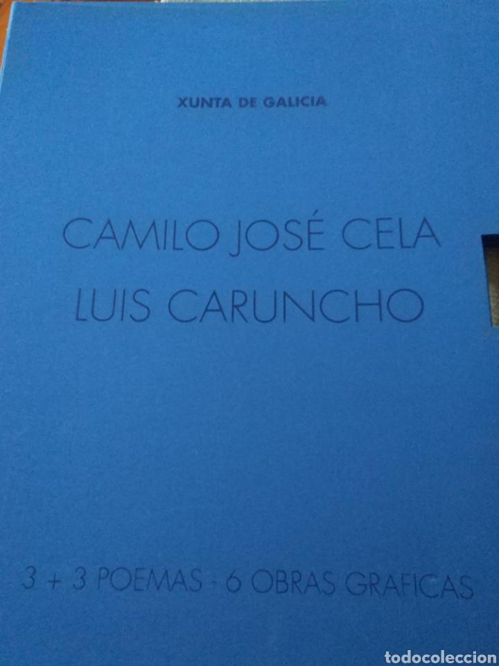 CARPETA GRABADOS LUIS CARUNCHO-POEMAS CAMILO JOSÉ CELA (Arte - Grabados - Contemporáneos siglo XX)