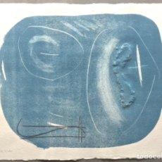 Arte: • WILLY WEBER CARBORUNDUM FIRMADO / NUMERADO 44X53CM. Lote 167428684