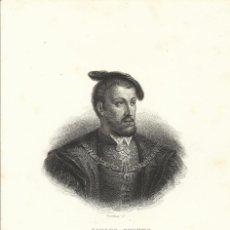 Arte: CHARLES FURNÉ. GRABADO SEGUNDA MITAD DEL SIGLO XIX. CARLOS V. BOSSELMAN SC. FURNÉ (PARÍS).. Lote 167474840