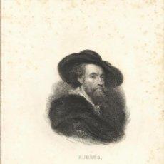 Arte: CHARLES FURNÉ. GRABADO SEGUNDA MITAD DEL SIGLO XIX. RUBENS. BOSSELMAN SC. FURNÉ (PARÍS).. Lote 167474936