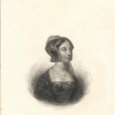 Arte: CHARLES FURNÉ. GRABADO SEGUNDA MITAD DEL SIGLO XIX. ANA BOLENA. BOSSELMAN SC. FURNÉ (PARÍS).. Lote 167474984