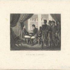 Arte: GRABADO SIGLO XIX. NAPOLÉON A ERFURT. RAFFET DEL. GIRARDET SC. 1808.. Lote 167507924