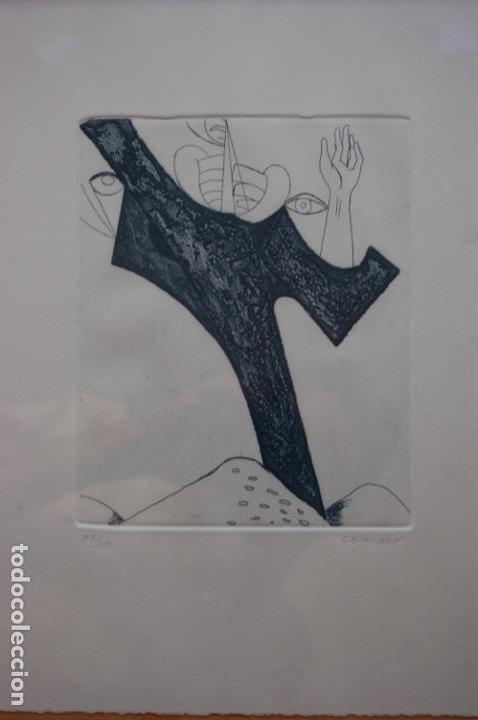 Arte: Pascual Casaubón.Huéscar 1944. Grabado de 22x 17,5 (plancha) en 38x28.27/50. Buen estado. - Foto 2 - 167528592