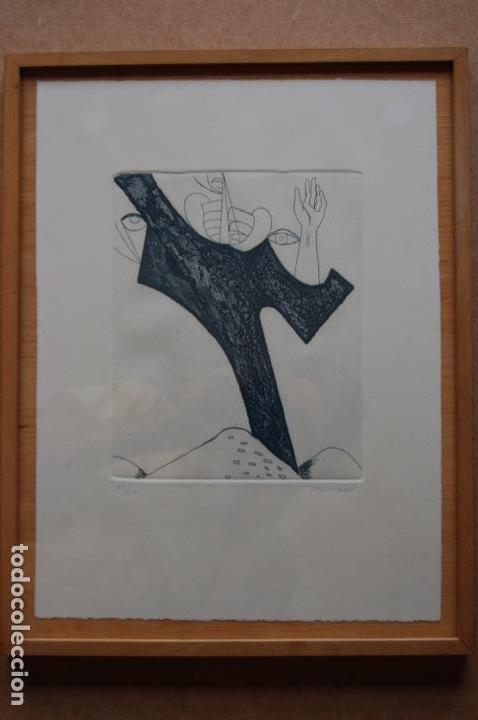 Arte: Pascual Casaubón.Huéscar 1944. Grabado de 22x 17,5 (plancha) en 38x28.27/50. Buen estado. - Foto 3 - 167528592