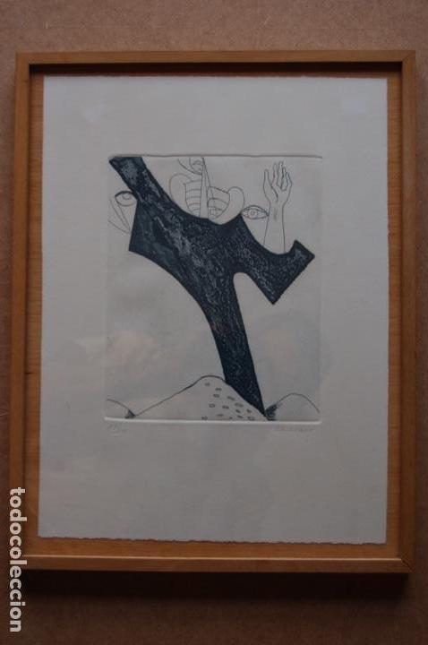 Arte: Pascual Casaubón.Huéscar 1944. Grabado de 22x 17,5 (plancha) en 38x28.27/50. Buen estado. - Foto 4 - 167528592
