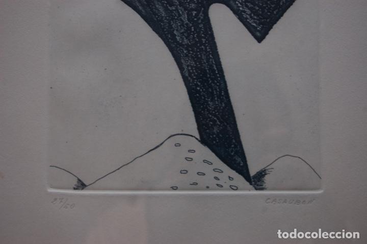 Arte: Pascual Casaubón.Huéscar 1944. Grabado de 22x 17,5 (plancha) en 38x28.27/50. Buen estado. - Foto 6 - 167528592